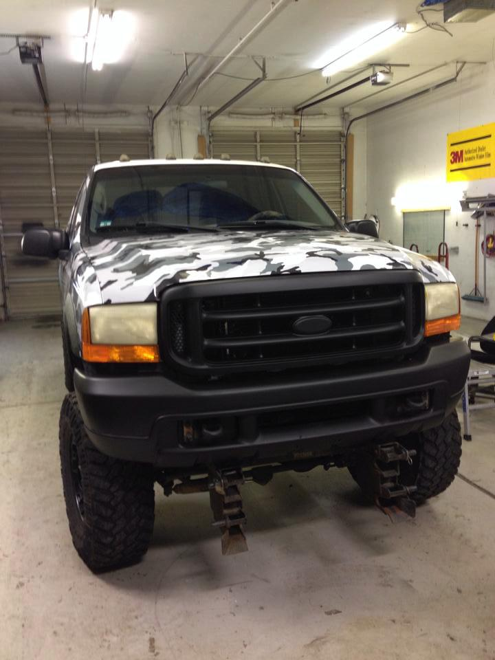 big truck wrap front