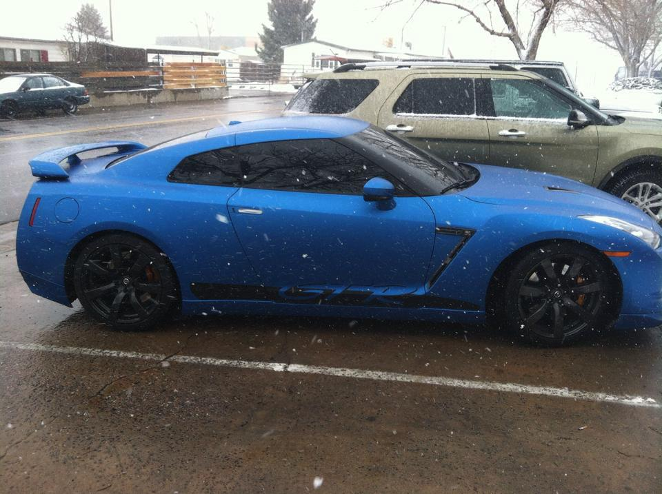 Dark Blue Sports Car Dark Blue Sports Car Wrap Side