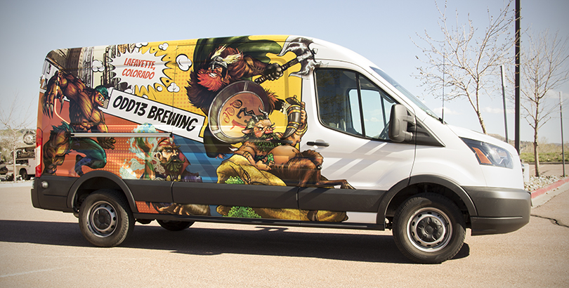 van wrap advertising Denver