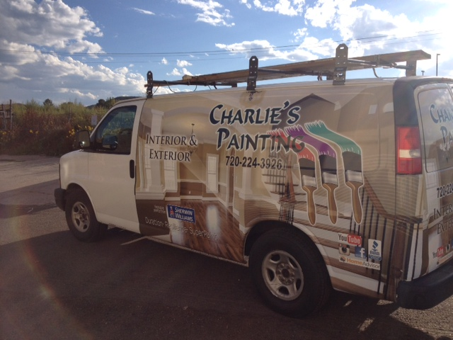 advertising van wrap Charlies