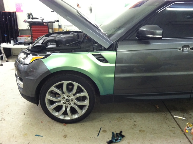 custom color change range rover before