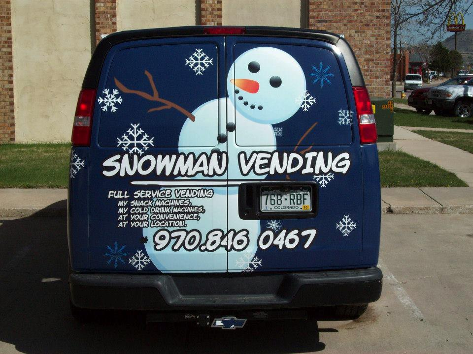 Big Dog Graphics_Box Trucks Van snowman