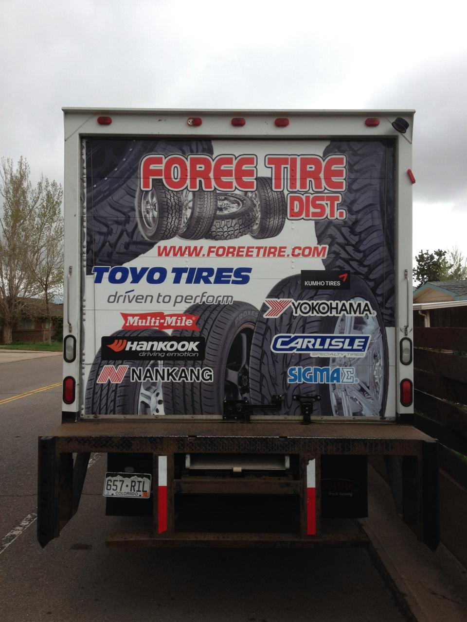 Big Dog Graphics_Box Truck tire wrap rear