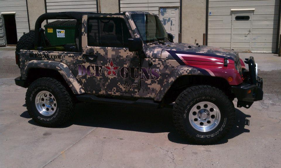 Jeep Wrangler Wrap Camo Big Dog Vehicle Wraps Amp Window
