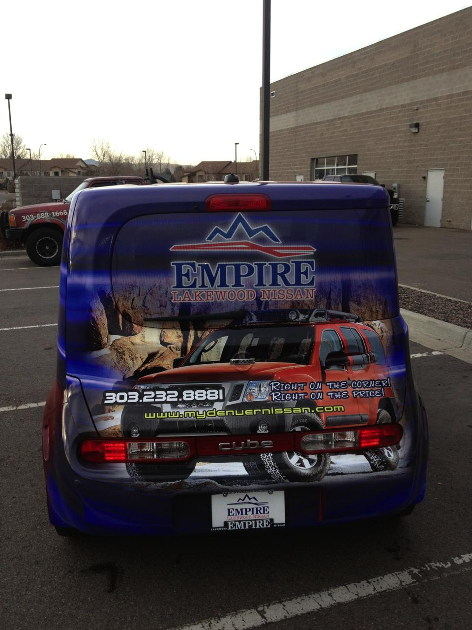blue and red cube wrap rear