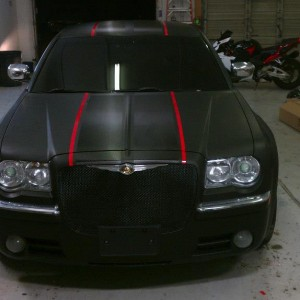 Chrysler Red And Black Car Wrap Big Dog Vehicle Wraps