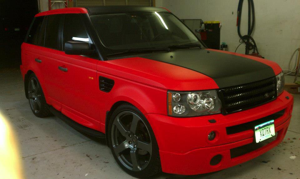 Range Rover Red & Black Wrap
