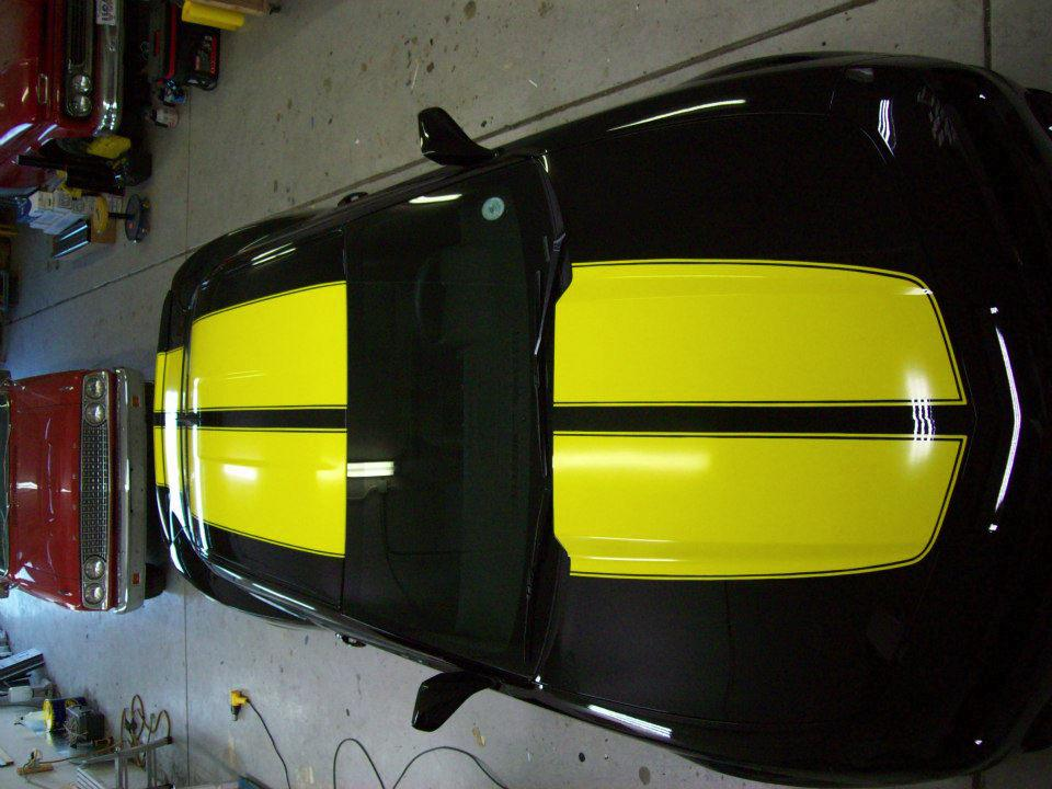 yellow & black stripe wrap