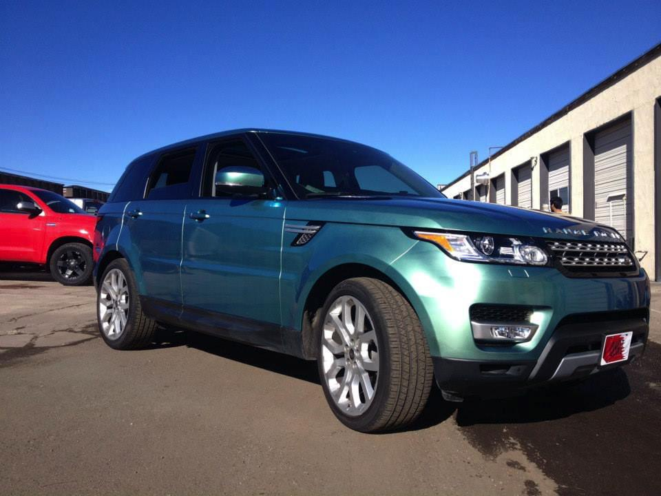 Green Range rover wrap