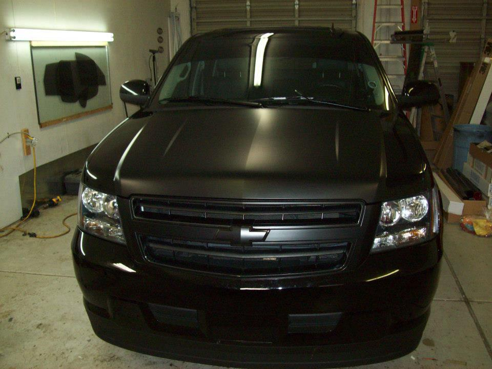 Chevy Suv black wrap