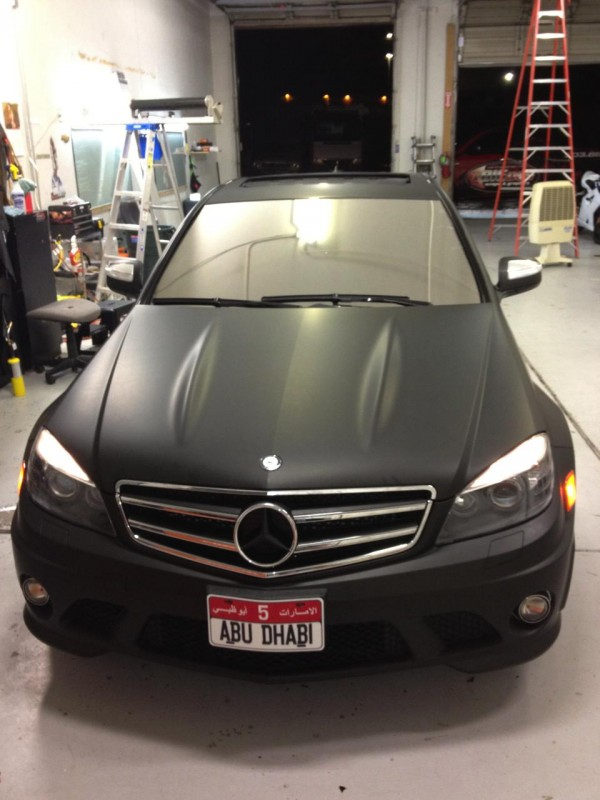 Black mercedes wrap front