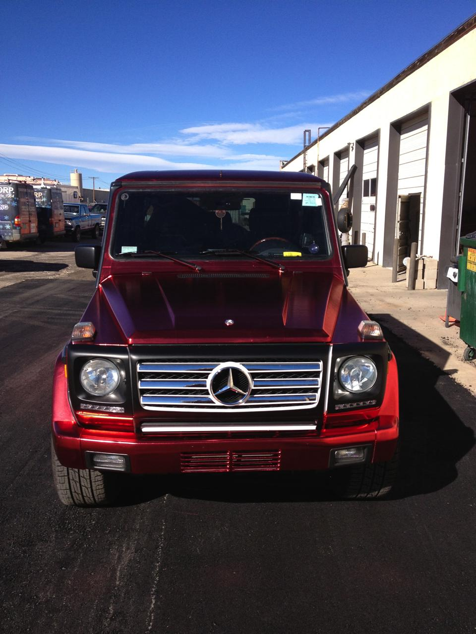 Metallic Red mercedes front