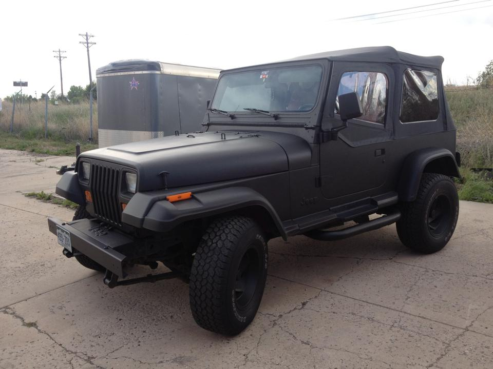 Flat black jeep wrap