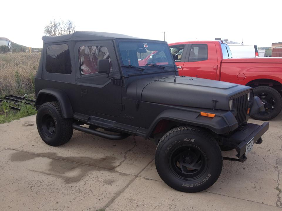 Flat black jeep wrap side