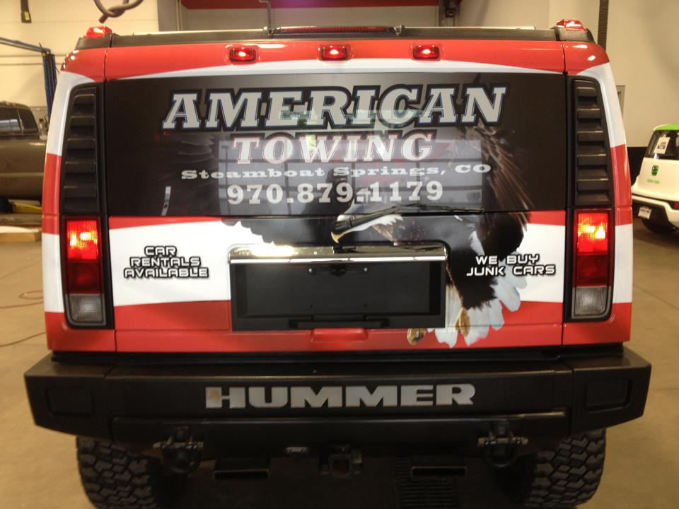 Hummer wrap American Towing