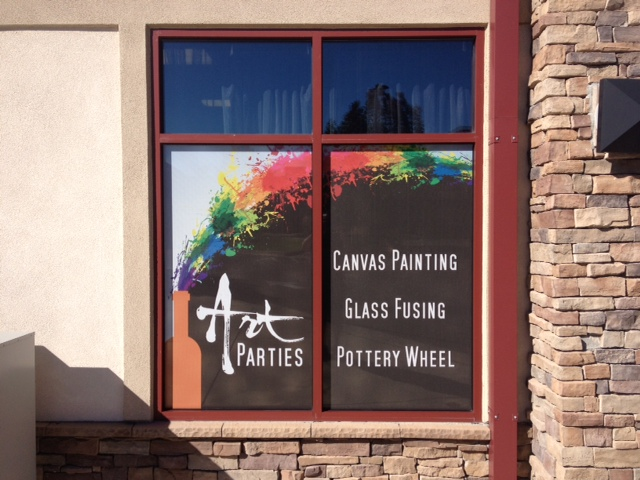 Business peripheral window graphic art parties