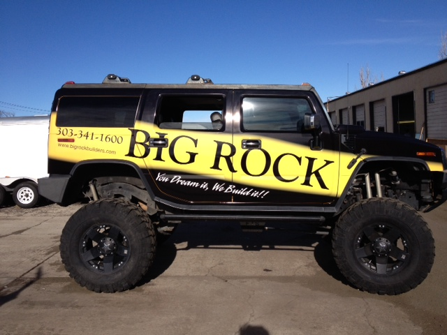 Fleet wrap hummer big rock side view