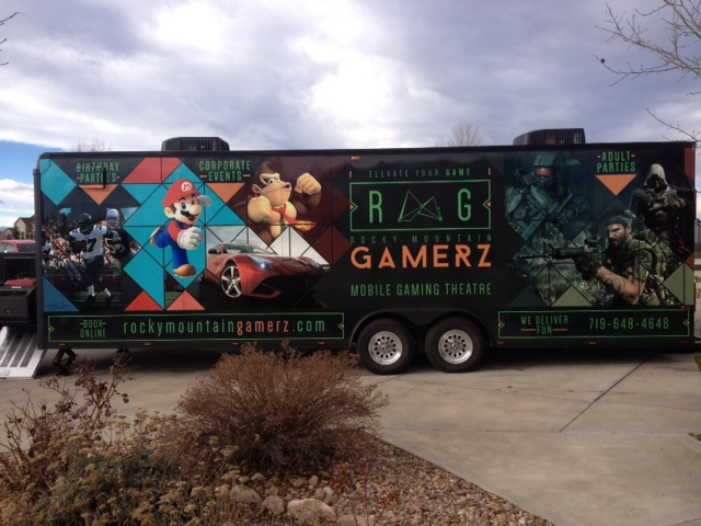 Trailer wrap gamer Z side - business vehicle wraps