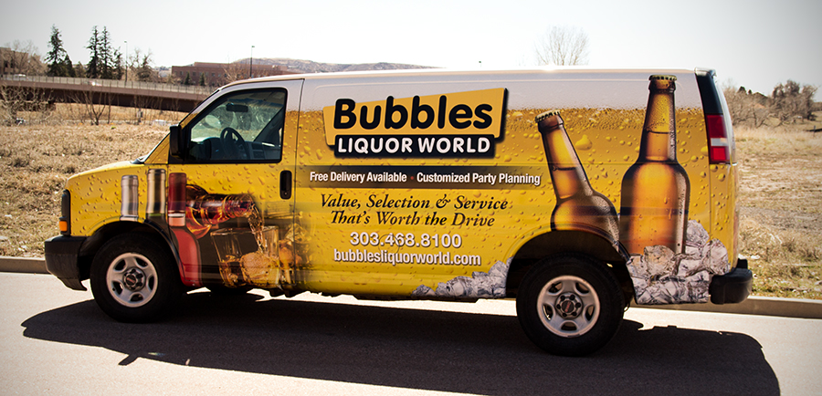vehicle wrap in Denver - big dog wraps