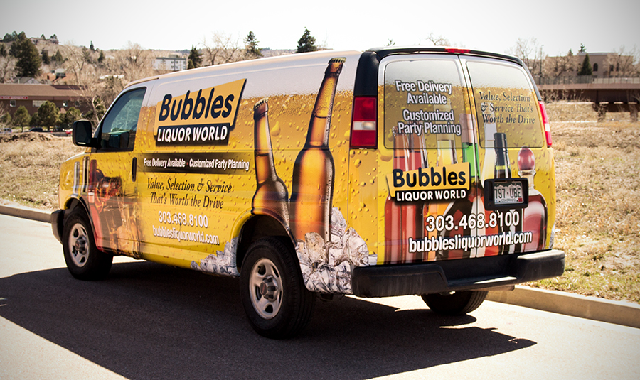 full van wrap bubbles