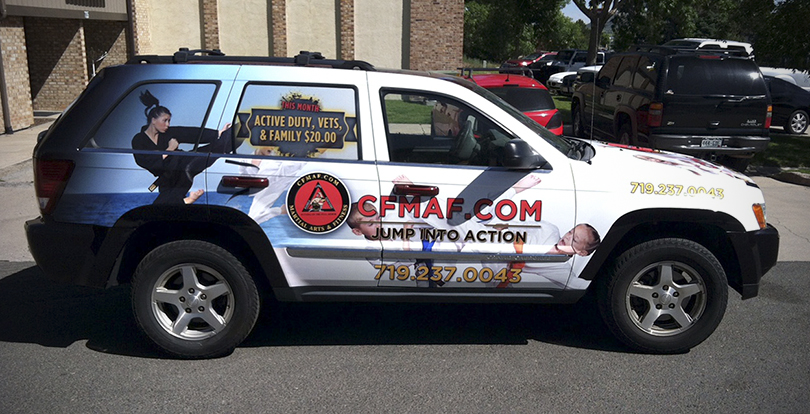 Vehicle wrap for business Colorado