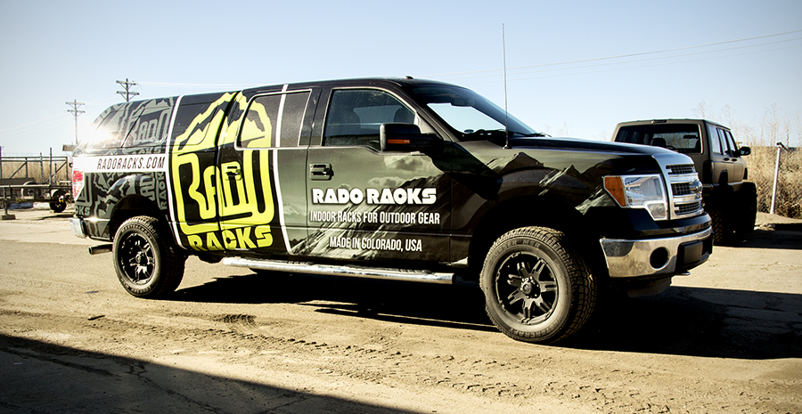 advertising on the road with Big Dog wraps