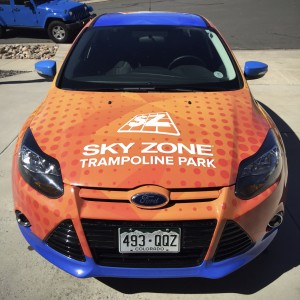 custom designed car wrap Colorado