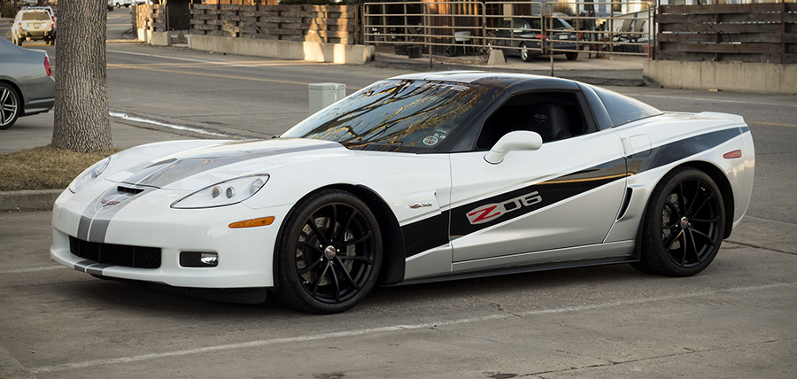 white corvette premium wrap Big Dog