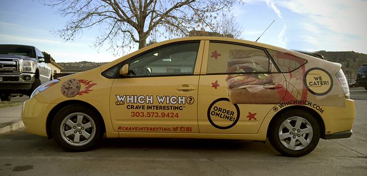 smart slogan car wrap which wich