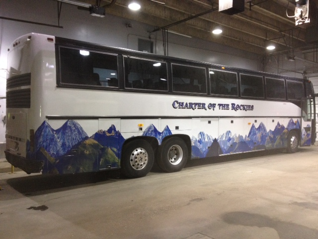 Bus fleet wrap charter of the rockies after