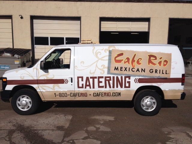 fleet wrap van cafe rio